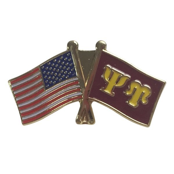 Psi Upsilon USA / Fraternity Flag Pin