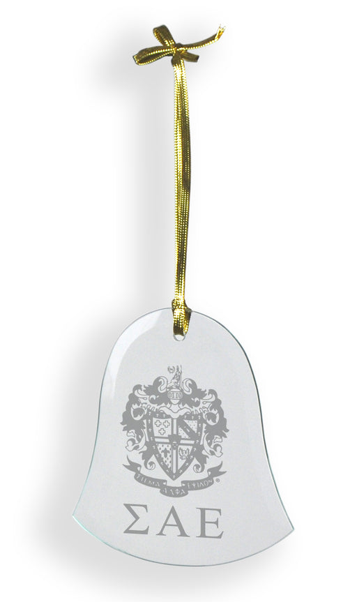 Sigma Alpha Epsilon Glass Bell Ornament