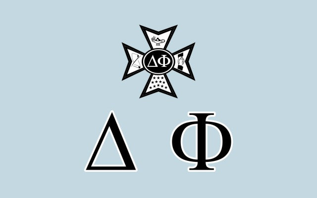 Delta Phi Fraternity Flag Sticker