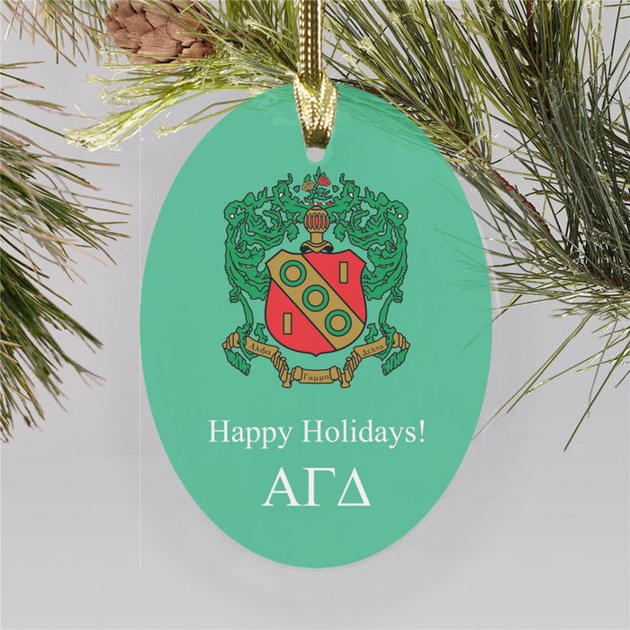 Alpha Gamma Delta Color Crest Ornament