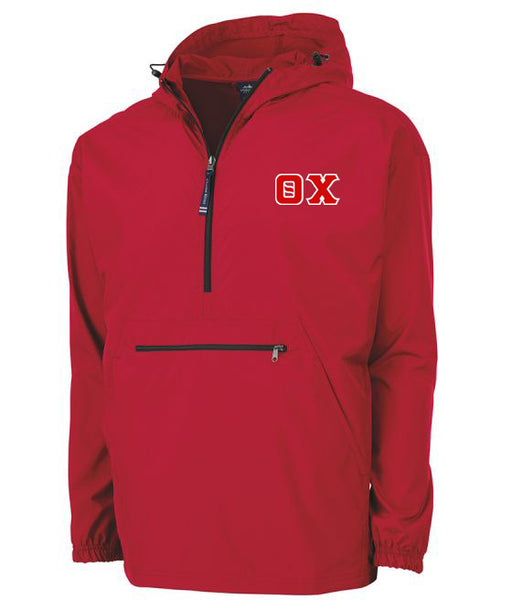 Theta Chi Embroidered Pack and Go Pullover