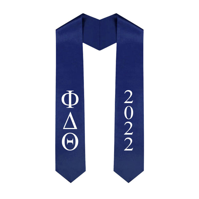 Phi Delta Theta Vertical Grad Stole with Letters & Year