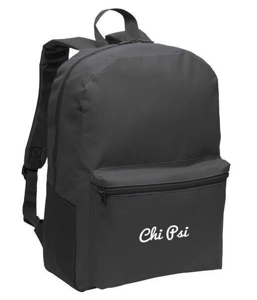 Chi Psi Cursive Embroidered Backpack