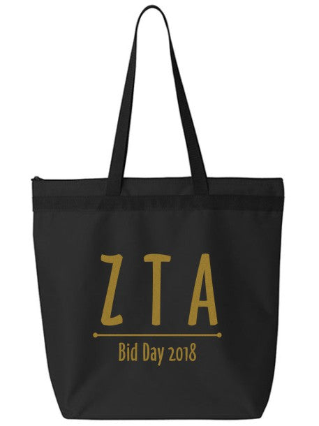 Zeta Tau Alpha Oz Letters Event Tote Bag