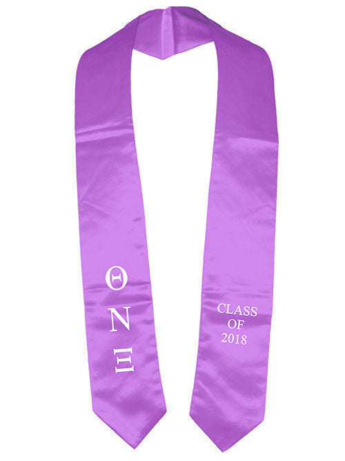 Theta Nu Xi Classic Colors Embroidered Grad Stole