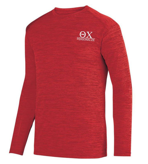 Theta Chi $20 World Famous Dry Fit Tonal Long Sleeve Tee