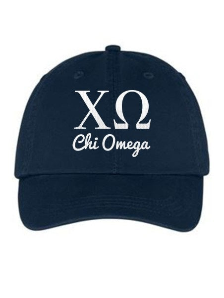 Chi Omega Collegiate Curves Hat