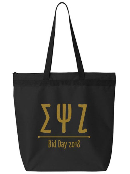 Sigma Psi Zeta Oz Letters Event Tote Bag
