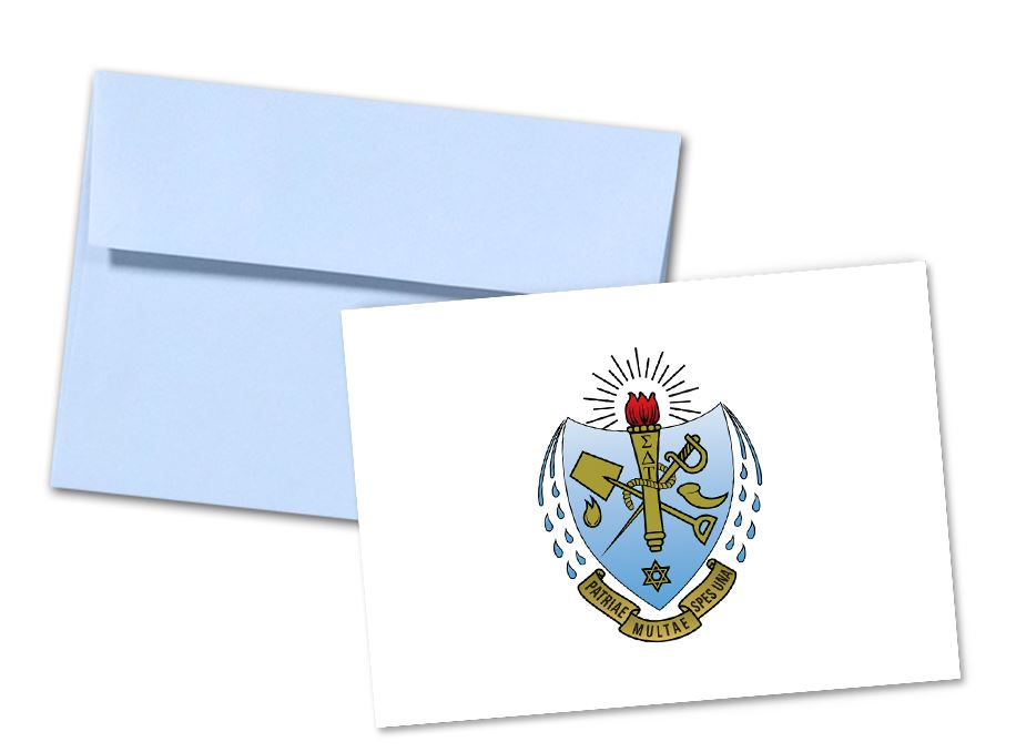 Sigma Delta Tau Sorority Crest Note Cards
