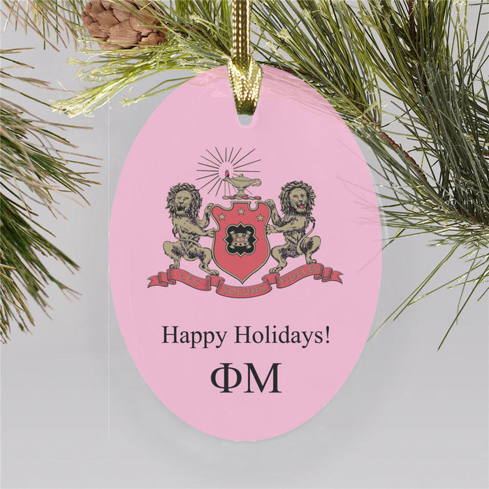 Phi Mu Color Crest Ornament