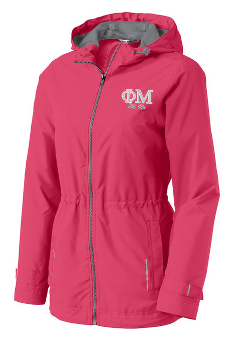 Phi Mu Embroidered Ladies Northwest Slicker
