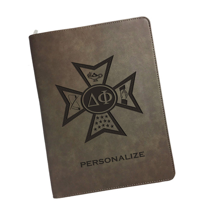 Delta Phi Leatherette Portfolio with Notepad