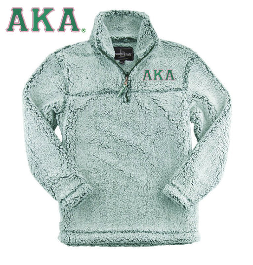 Alpha Kappa Alpha Embroidered Sherpa Quarter Zip Pullover