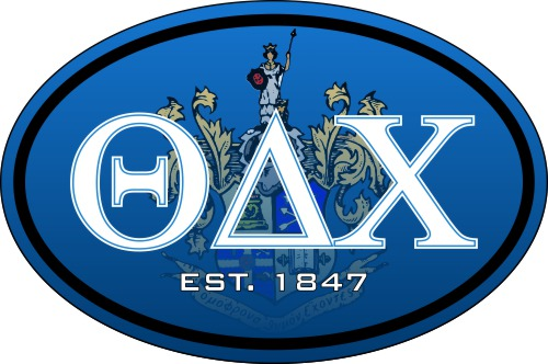 Theta Delta Chi Color Oval Decal