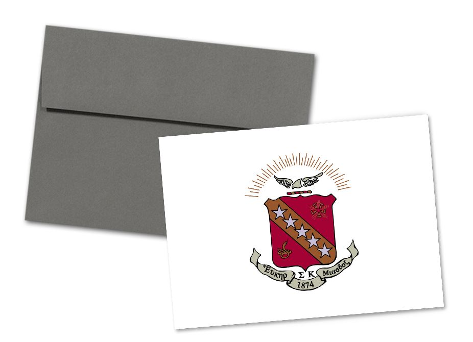Sigma Kappa Sorority Crest Note Cards