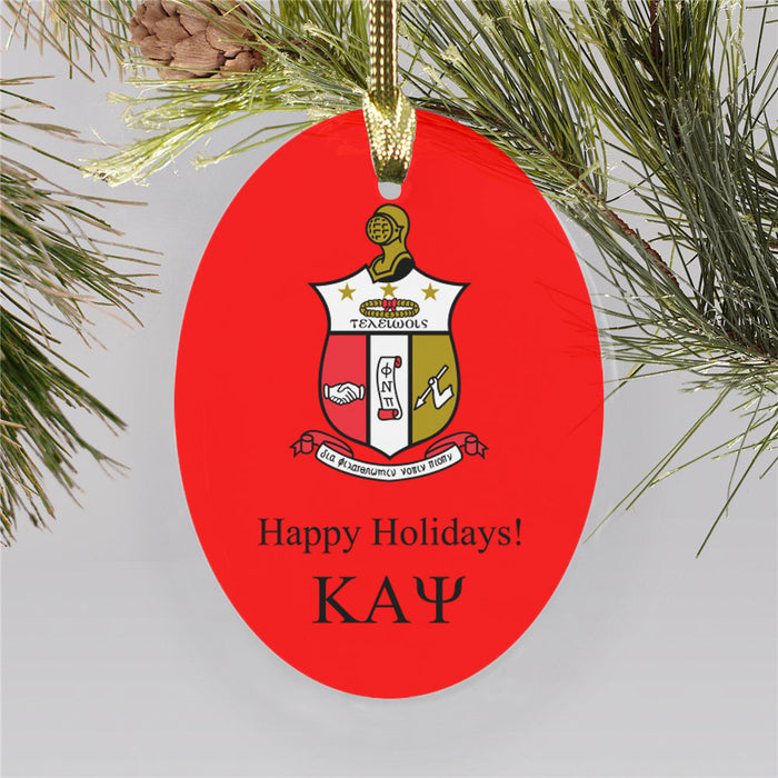 Kappa Alpha Psi Color Crest Ornament