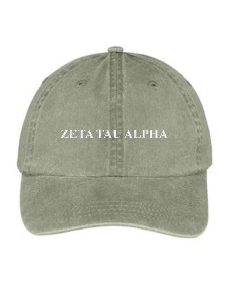 Zeta Tau Alpha Embroidered Hat