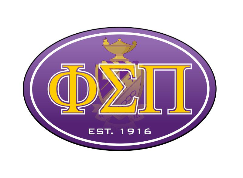Phi Sigma Pi Color Oval Decal Color Oval Decal
