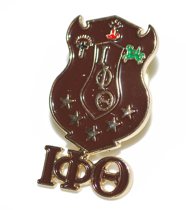 Iota Phi Theta Shield With Greek Letters Pin