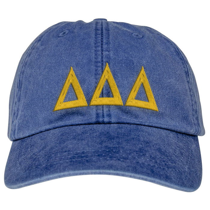 Delta Delta Delta Greek Letter Embroidered Hat