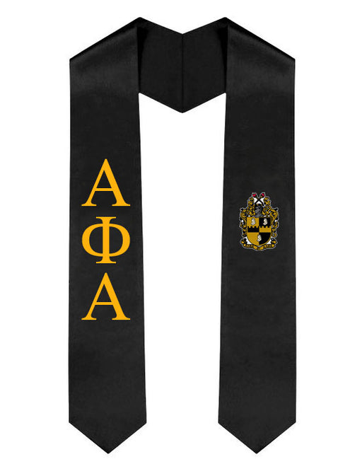 Alpha Phi Alpha Lettered Graduation Sash Stole with Crest