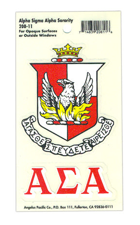 Alpha Sigma Alpha Crest Decal