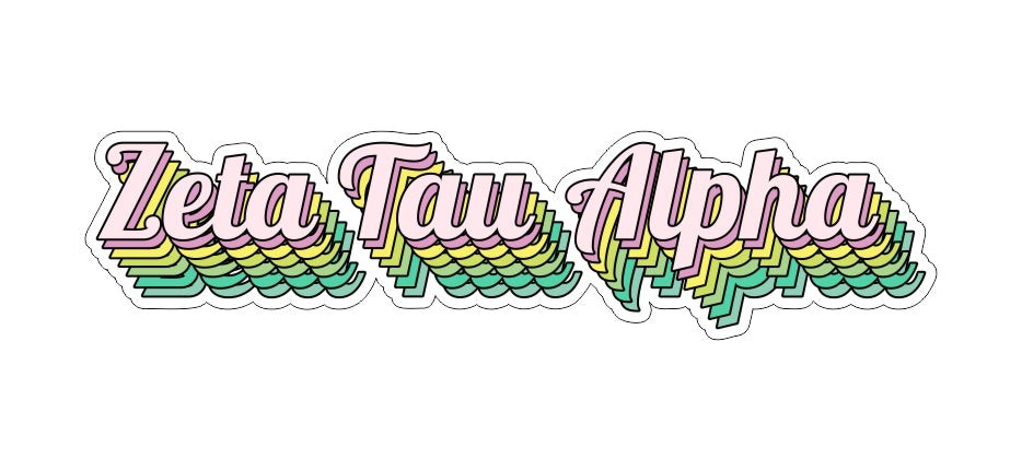 Zeta Tau Alpha New Hip Stepped Sticker