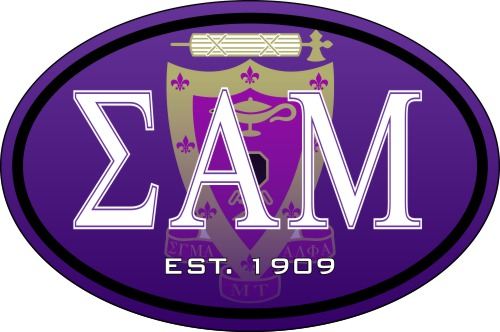 Sigma Alpha Mu Color Oval Decal