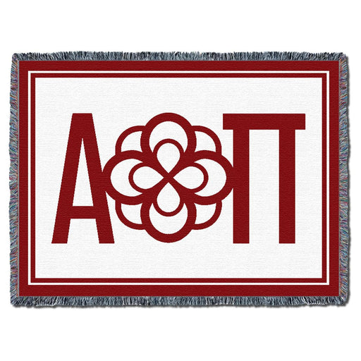Alpha Omicron Pi Afghan Blanket Throw
