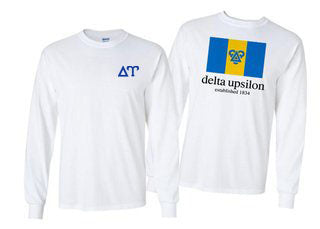 Delta Upsilon Long Sleeve Flag Tee