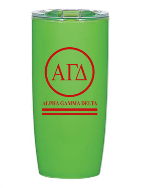 Alpha Gamma Delta Circle Stripes 19 oz Everest Tumbler