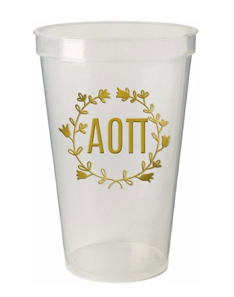 Alpha Omicron Pi Wreath Giant Plastic Cup