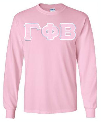 Gamma Phi Beta Long Sleeve Greek Lettered Tee