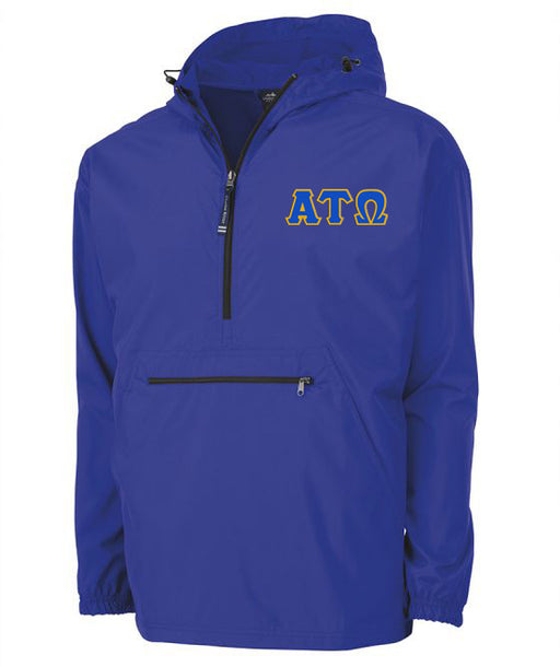 Alpha Tau Omega Embroidered Pack and Go Pullover