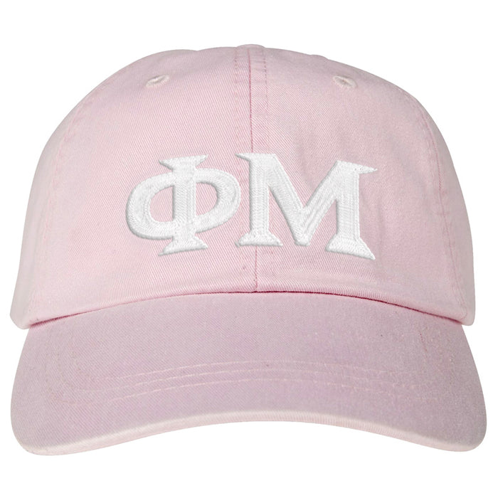 Phi Mu Greek Letter Embroidered Hat