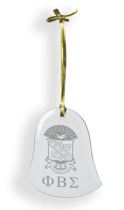 Phi Beta Sigma Glass Bell Ornament
