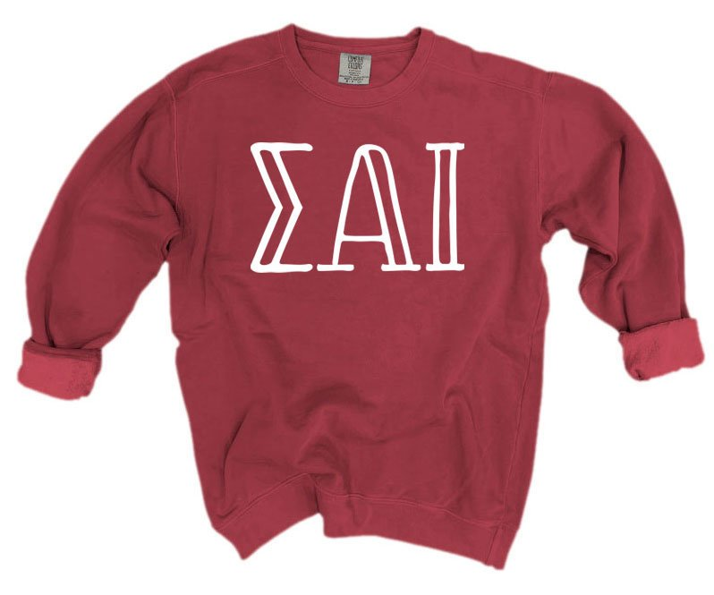 Sigma Alpha Iota Comfort Colors Greek Letter Sorority Crewneck Sweatshirt