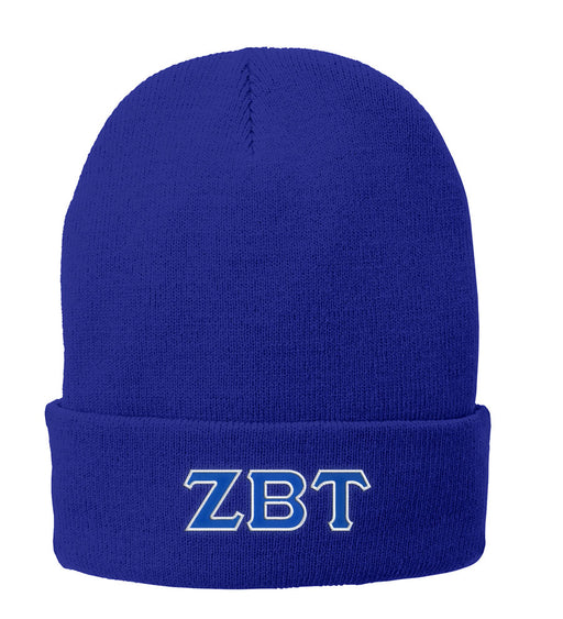 Zeta Beta Tau Lettered Knit Cap