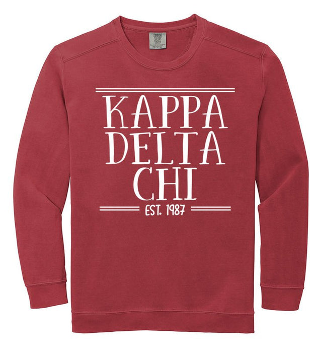 Kappa Delta Chi Comfort Colors Custom Sorority Sweatshirt
