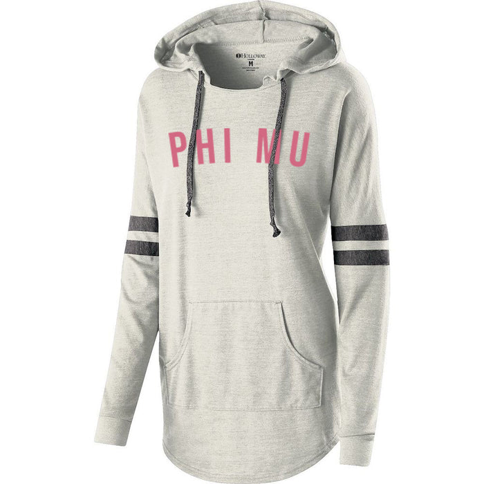 Phi Mu Hooded Low Key Pullover
