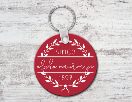 Alpha Omicron Pi Since Established Keyring