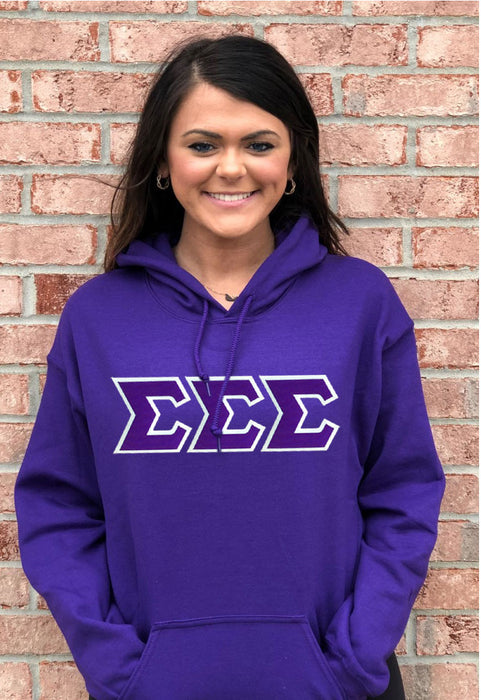 Sigma Sigma Sigma Lettered Hoodie