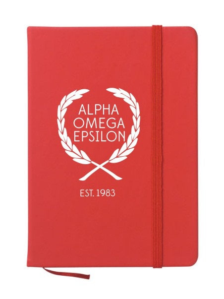 Alpha Omega Epsilon Laurel Notebook
