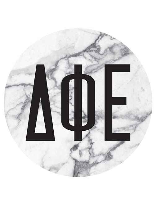 Alpha Phi Omega Floral Wreath Sticker