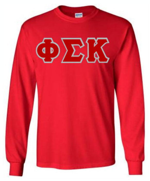 Phi Sigma Kappa Long Sleeve Greek Lettered Tee