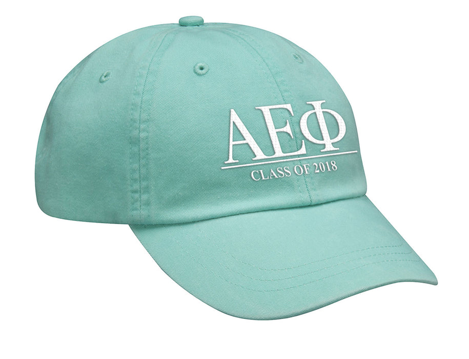 Alpha Epsion Phi Embroidered Hat with Custom Text