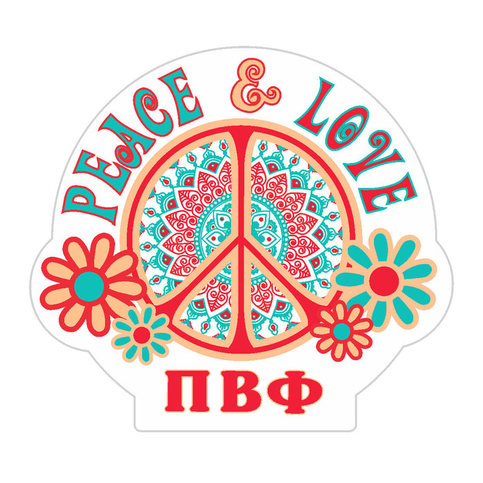 Pi Beta Phi Peace Sticker