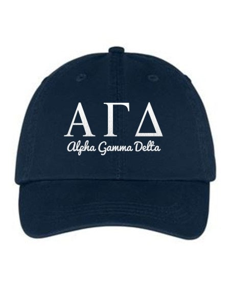 Alpha Gamma Delta Collegiate Curves Hat