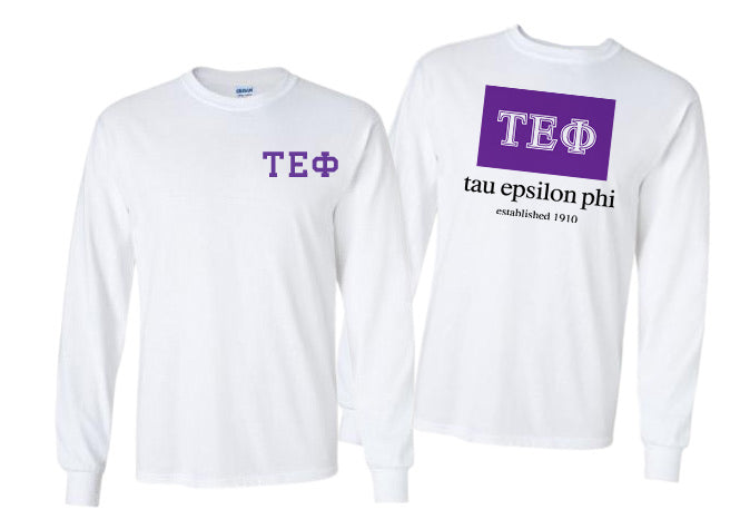 Tau Epsilon Phi Long Sleeve Flag Tee