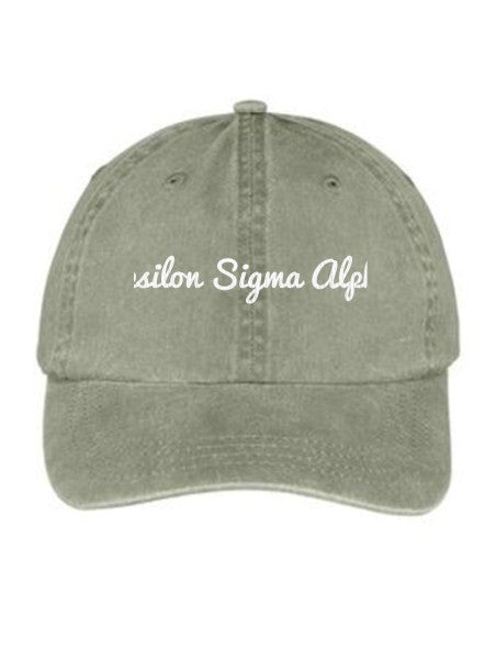 Epsilon Sigma Alpha Nickname Embroidered Hat